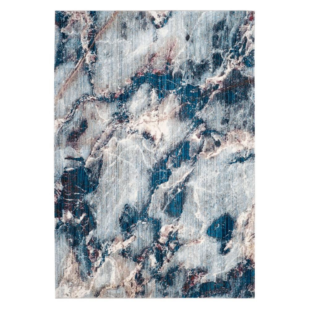 4'X6' Marble Area Rug Blue - Safavieh, Blue/Multi-Colored