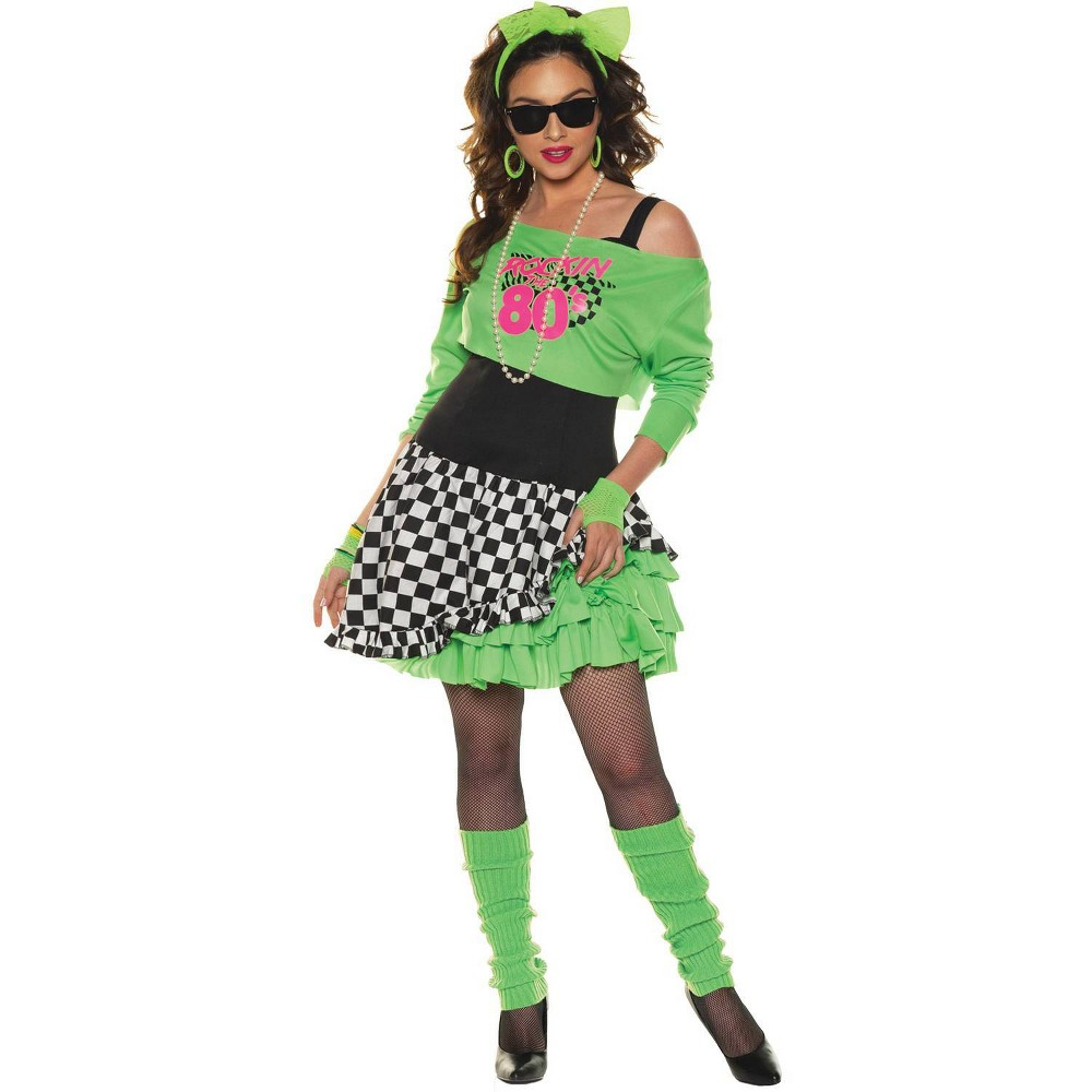 1980s Clothing, Fashion | 80s Style Clothes Halloween Adult Totally Awesome Halloween Costume - L $37.99 AT vintagedancer.com
