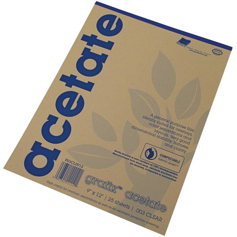 Grafix Acetate Pad, 9 X 12 in, Clear, 25 Sheets/Pad - image 1 of 1