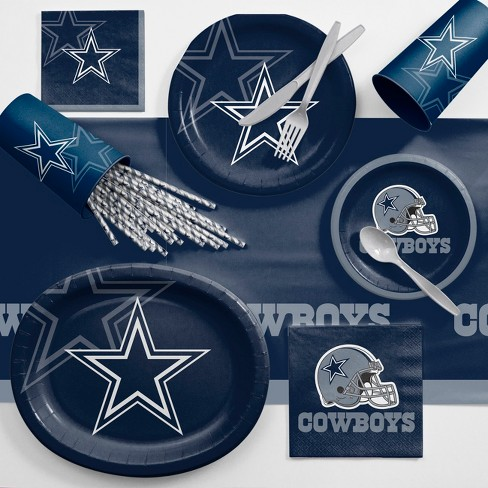 NFL Navy Blue Dallas Cowboys Ultimate Fan Party Supplies Kit - image 1 of 1