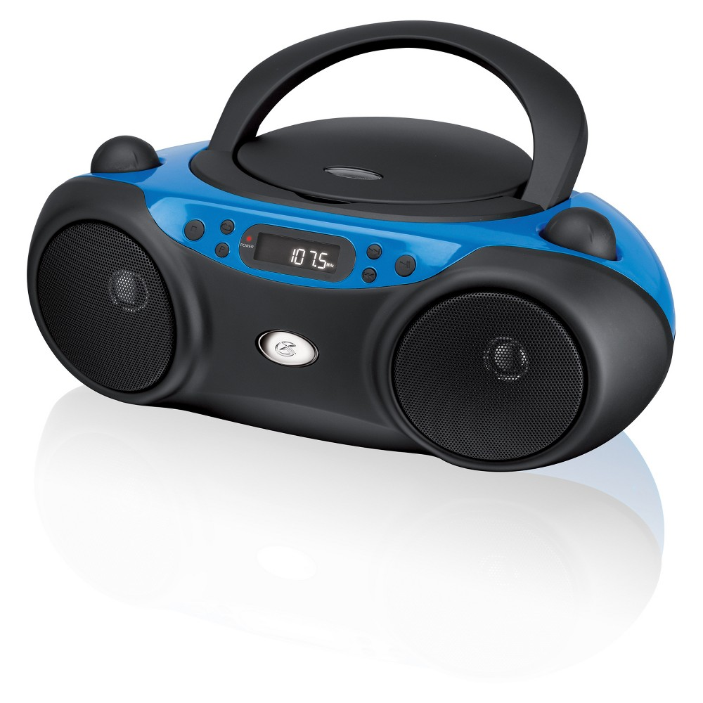Gpx CD Boombox with AM/FM Radio and Led Display - Blue