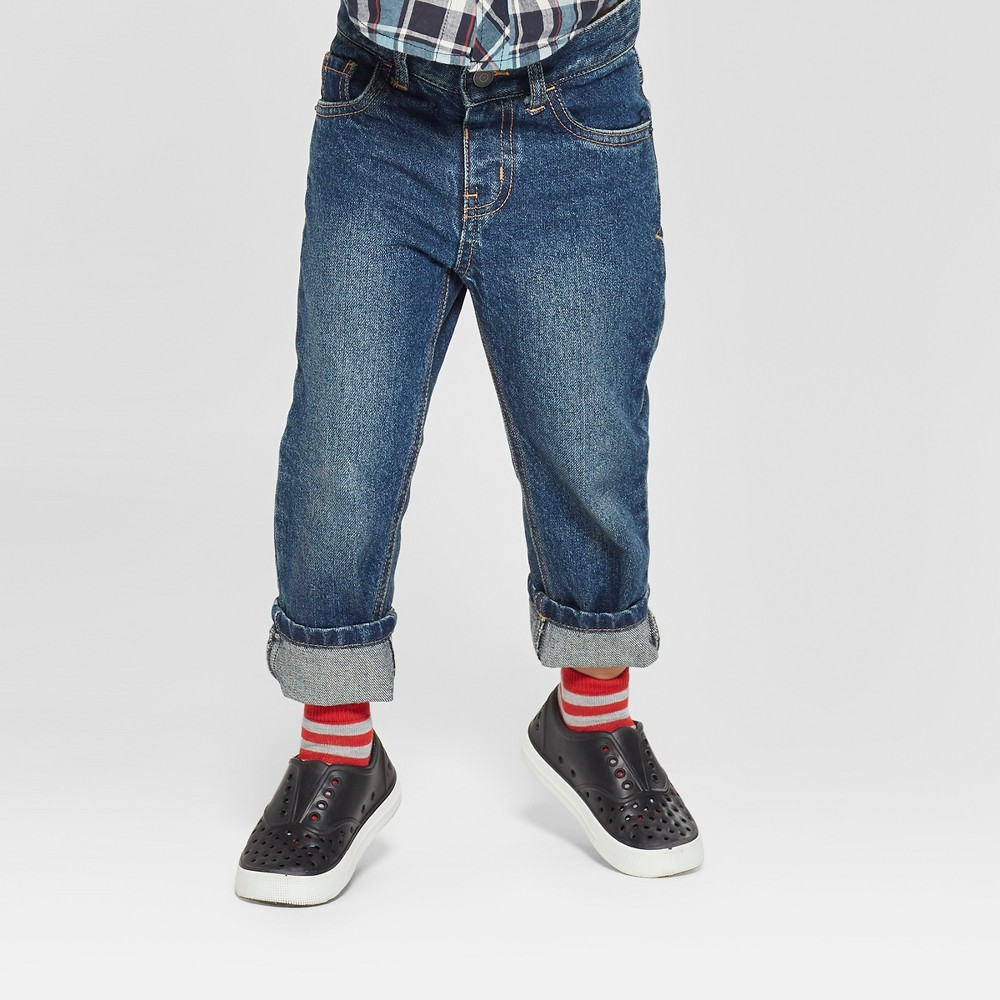 Toddler Boys' Relaxed Straight Jeans - Cat & Jack Medium Blue 5T