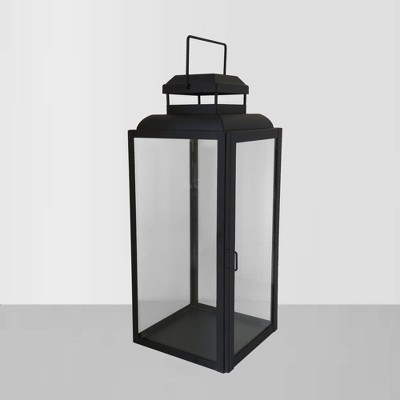 16  Glass Outdoor Lantern with Black Frame - Threshold™