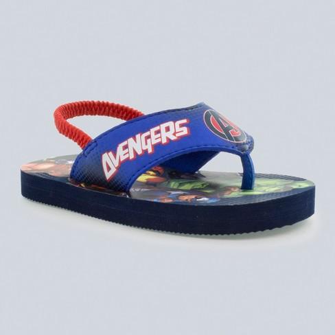 Toddler Boys' Avengers Flip Flop Sandals - Blue - image 1 of 3