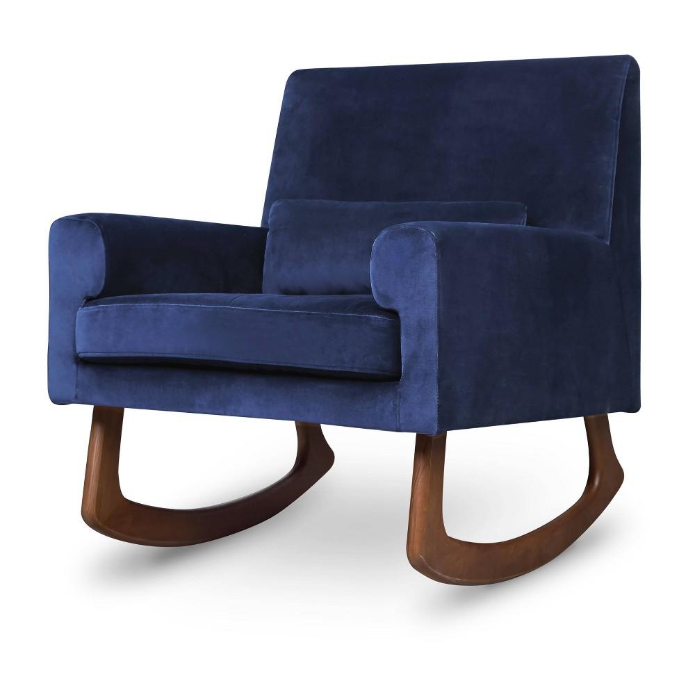 Image of Nursery Works Sleepytime Rocker with Walnut Legs - Navy, Blue