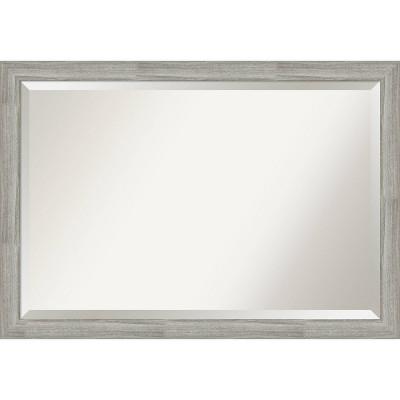 "40"" x 28"" Dove Graywash Framed Bathroom Vanity Wall Mirror - Amanti Art"