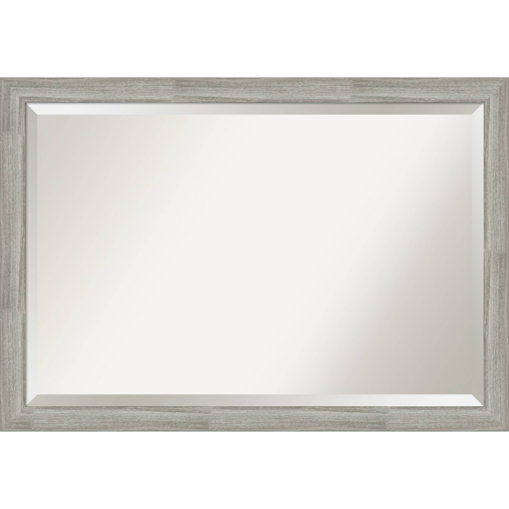 "Image of ""40"""" x 28"""" Narrow Framed Vanity Wall Mirror Dove Graywash - Amanti Art"""