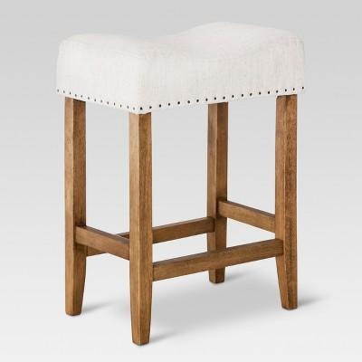 "24"" Rumford Saddle Counter Height Barstool with Wood Leg - Threshold™"