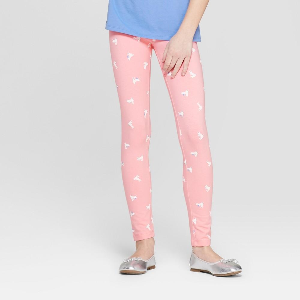 Girls' Bunny Printed Leggings - Cat & Jack Pink M
