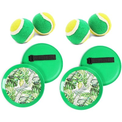 Blue Panda 2 Sets Tropical Paddle Catch Ball and Toss Game