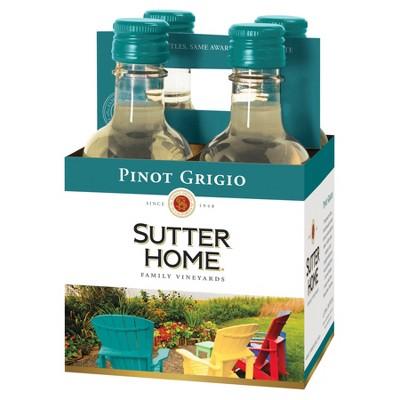 Sutter Home Pinot Grigio White Wine - 4pk/187ml Bottles