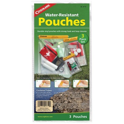 Coghlan's Water-Resistant Pouches (3 Piece Set), Travel Camping Emergency Bags