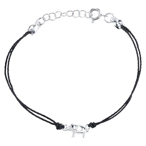 Sterling Silver Charm Bracelet - Black - image 1 of 1