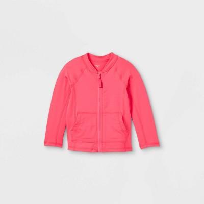 Toddler Girls' Adaptive Abdominal Access Rash Guard - Cat & Jack™ Sunshine Pink