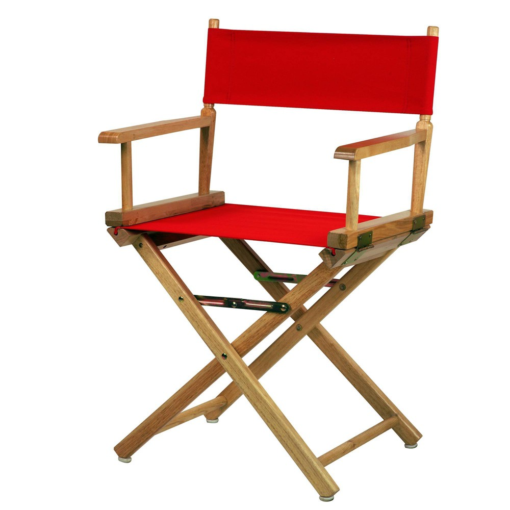 Director S Chair Canvas Red Natural Flora Home