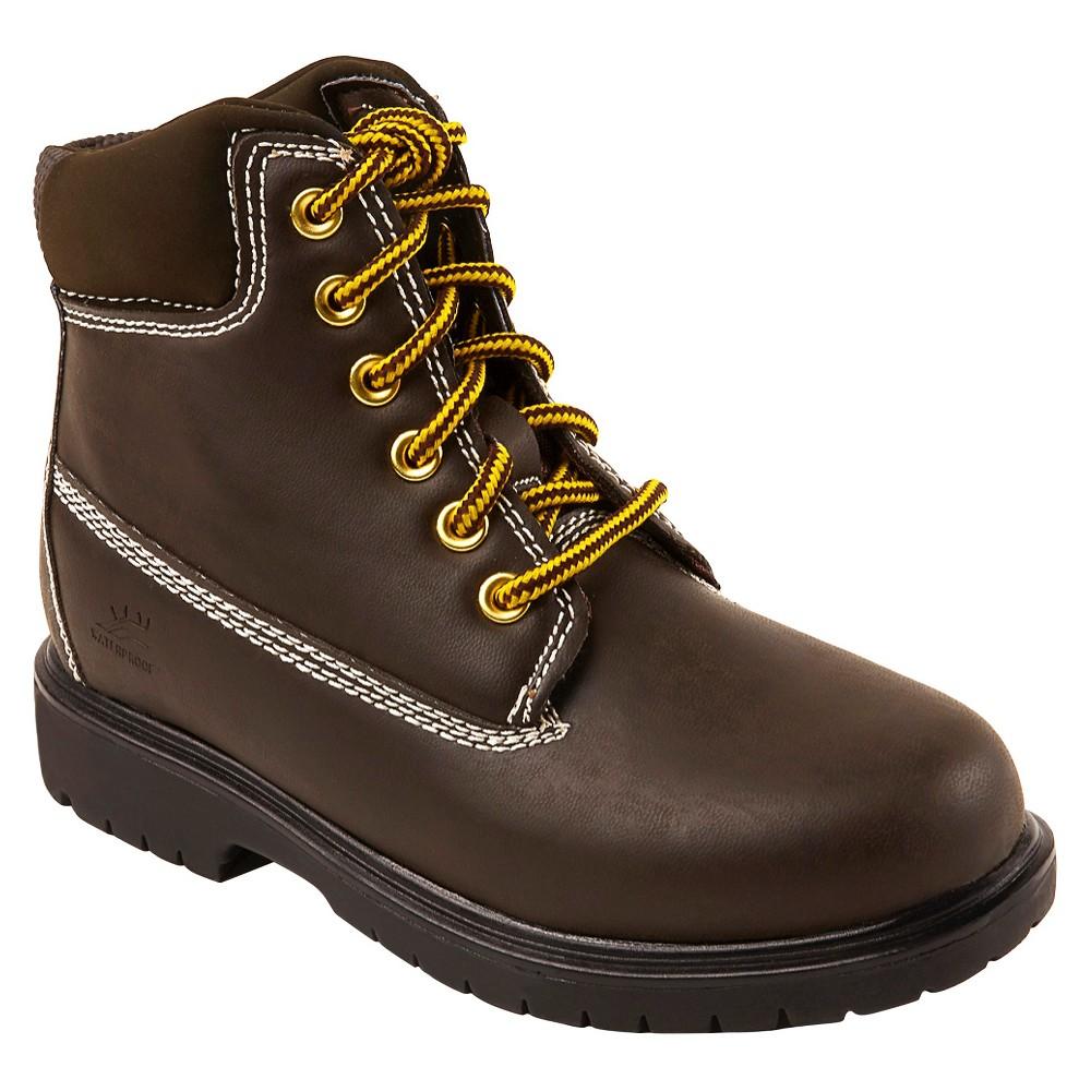 Image of Deer Stags Boys' Mak 2 Water Proof Occupational Boots - Brown 13.5, Dark Brown