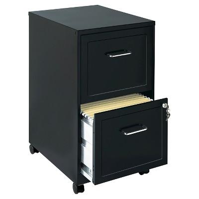 Gentil Hirsh Industries® Space Solutions File Cabinet On Wheels, 2 Drawer   Black  : Target
