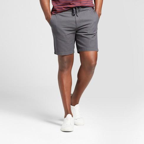"Men's 8"" Flat Front Drawstring Fashion Shorts - Goodfellow & Co™ Railroad Gray L - image 1 of 3"