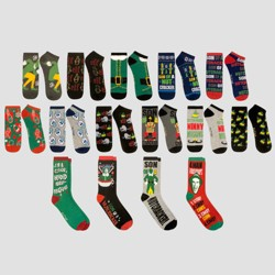 Men's Warner Brothers Elf 15 Days of Socks in a Box - Colors May Vary 6-12