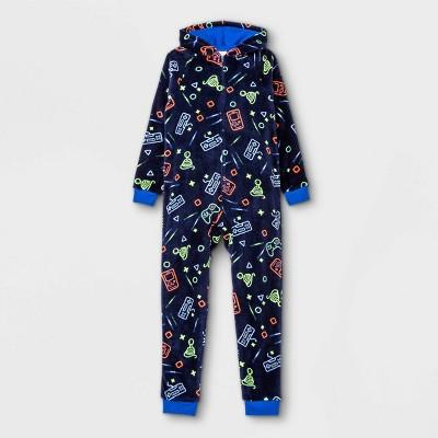 Boys' Gamer Pajama Jumpsuit - Cat & Jack™ Dark Blue