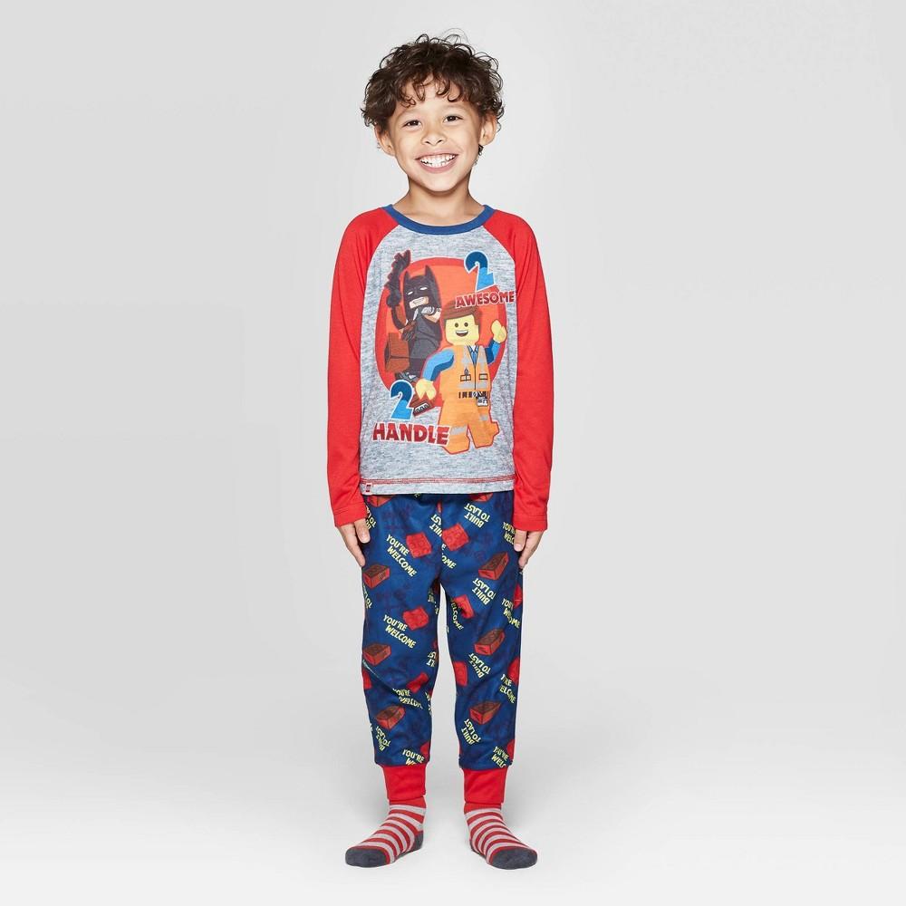 Image of Toddler Boys' 2pc LEGO Movie Pajama Set - Red 2T, Boy's