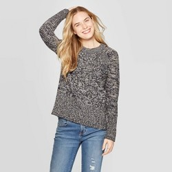 Women's Long Sleeve Crew Neck Raglan Pullover Sweater - Universal Thread™
