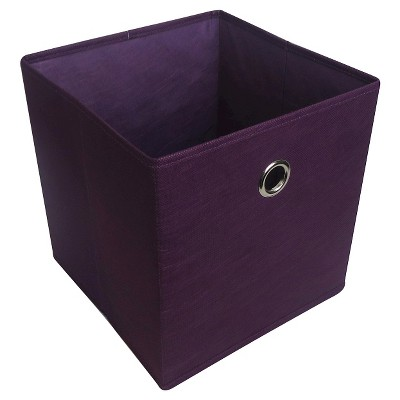 11  Fabric Cube Storage Bin Purple - Room Essentials™