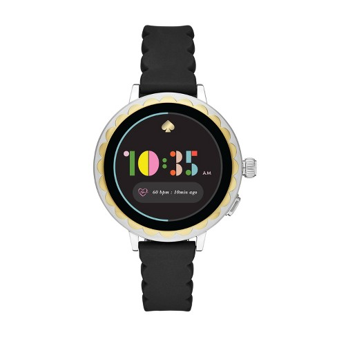 Kate Spade New York Scallop 2 Smartwatch 41mm - Stainless Steel with Black Silicone - image 1 of 4