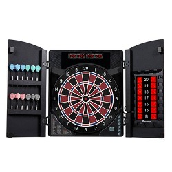 MD Sports New Haven Electronic Dartboard with Cabinet