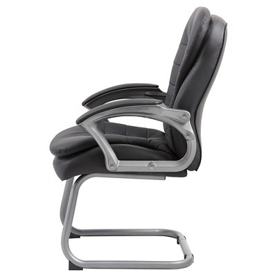 Executive Pillow Top Guest Chair Black   Boss Office Products : Target