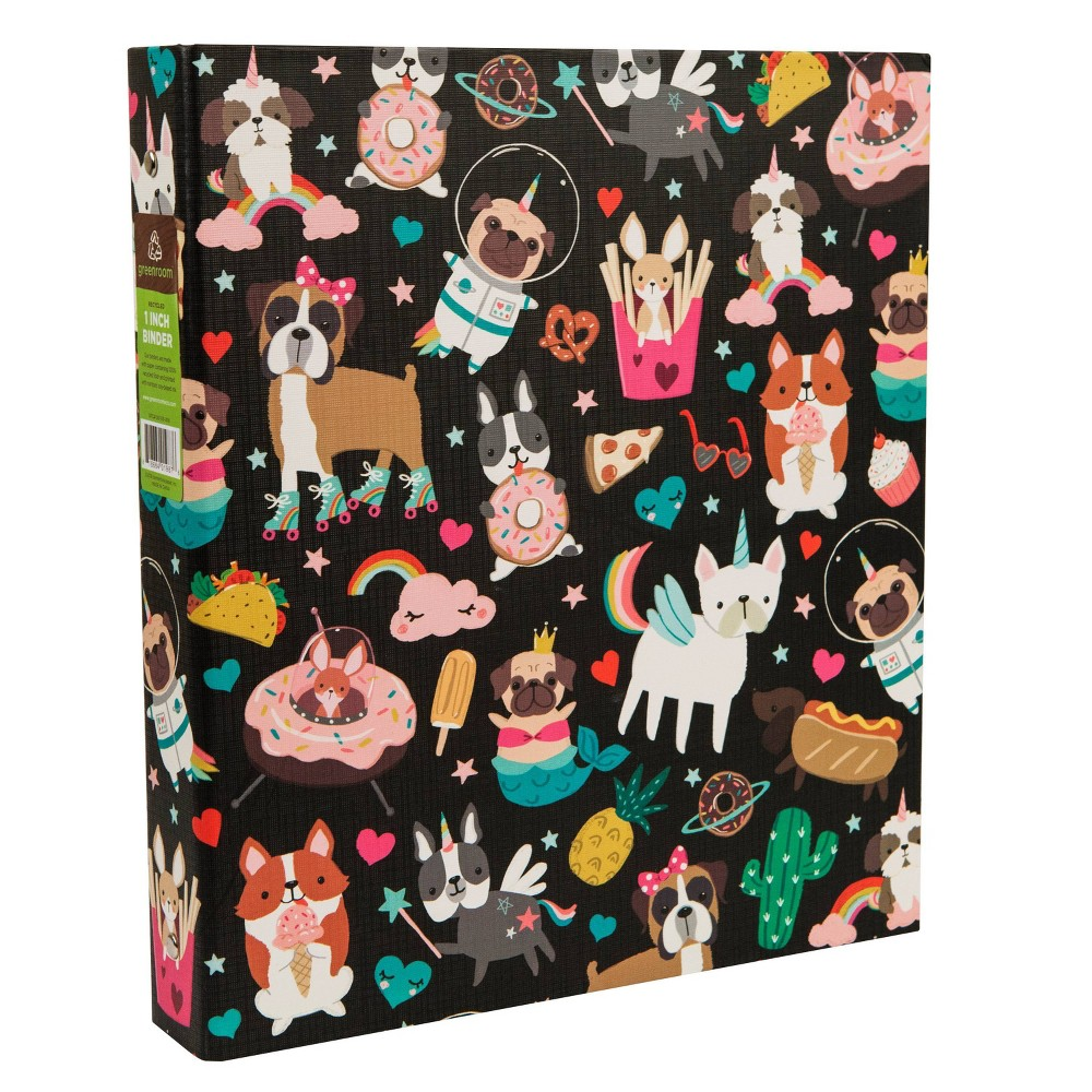 "Image of ""175 Sheet 1"""" Ring Binder Space Animals Black - Greenroom"""