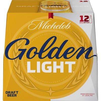 Michelob Golden Light Draft Beer - 12pk/12 fl oz Bottles