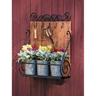 Wall Shelf with Planters - Gardener's Supply Company