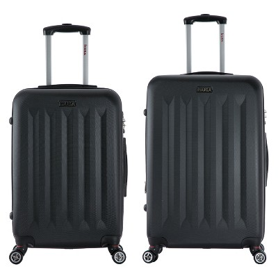 InUSA Philadelphia 2pc Hardside Spinner Luggage Set 23 & 27  - Black