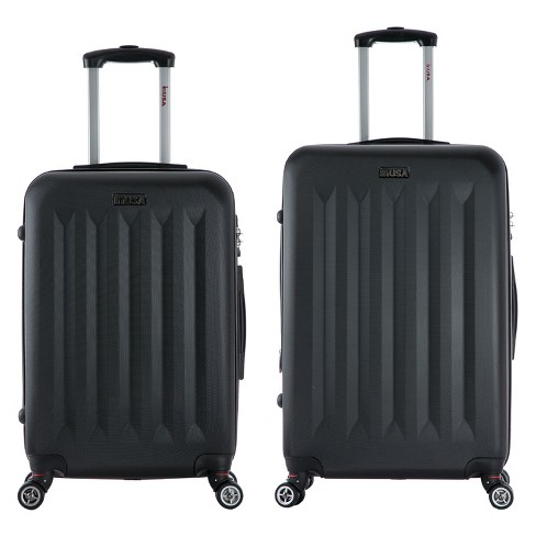 "InUSA Philadelphia 2pc Hardside Spinner Luggage Set 23""& 27"" - Black - image 1 of 4"
