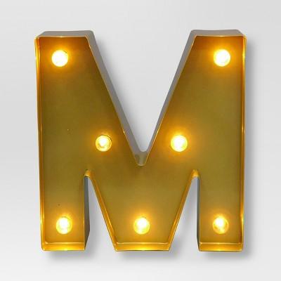 Marquee Letter Light Brass M - Threshold™