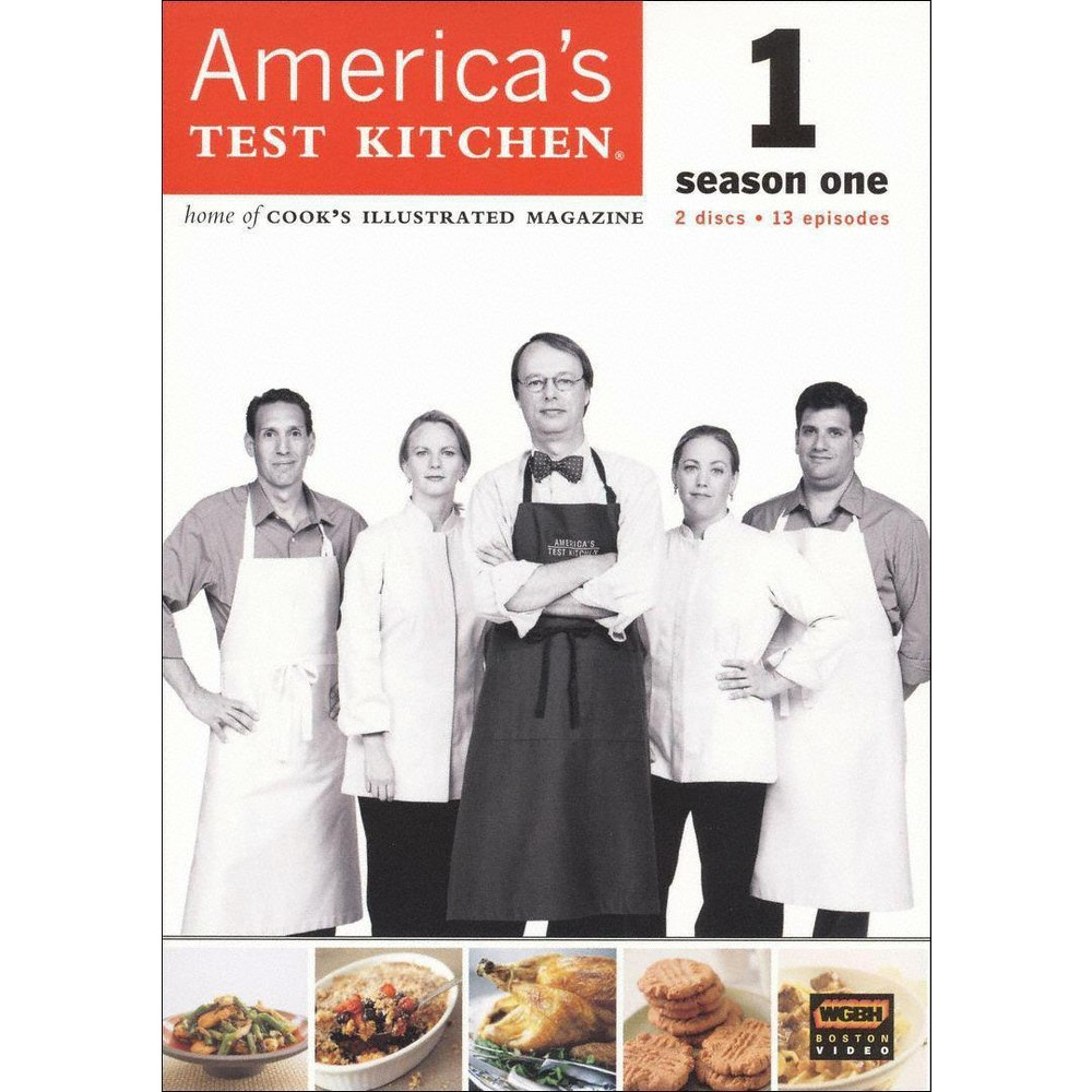 America's Test Kitchen Season 1 (Dvd) From the test kitchens of Cook's Illustrated magazine comes this straightforward cooking show for smart home chefs. Each episode offers sensible reviews of kitchen equipment and clear, insightful lessons on how to prepare everything from soups to steak. This season-one collection features 13 complete episodes, including  Tomato Sauces for Pasta,   The Perfect Roast Turkey,   Cooking Eggs,   Holiday Pies,  and  Stir-Fry Made Easy.