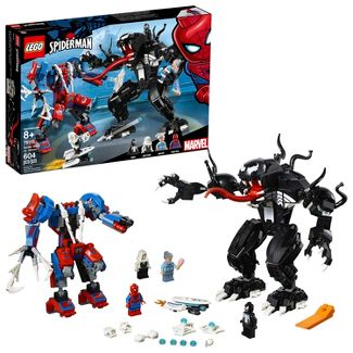 LEGO Marvel Spider Mech Vs. Venom Ghost Spider Superhero Playset with Web Shooter 76115