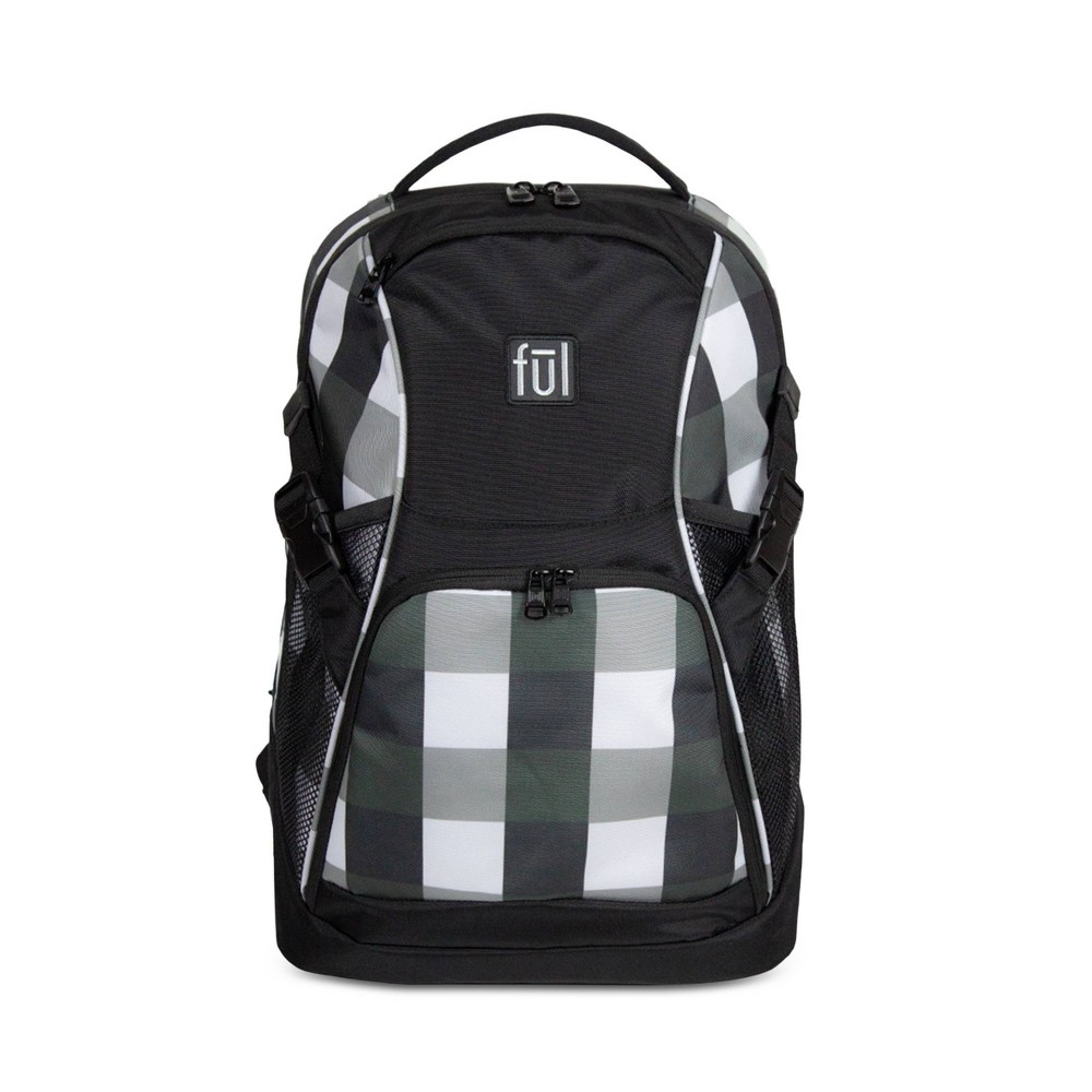 "Image of ""FUL 18"""" Marlon Backpack - Black/White"""