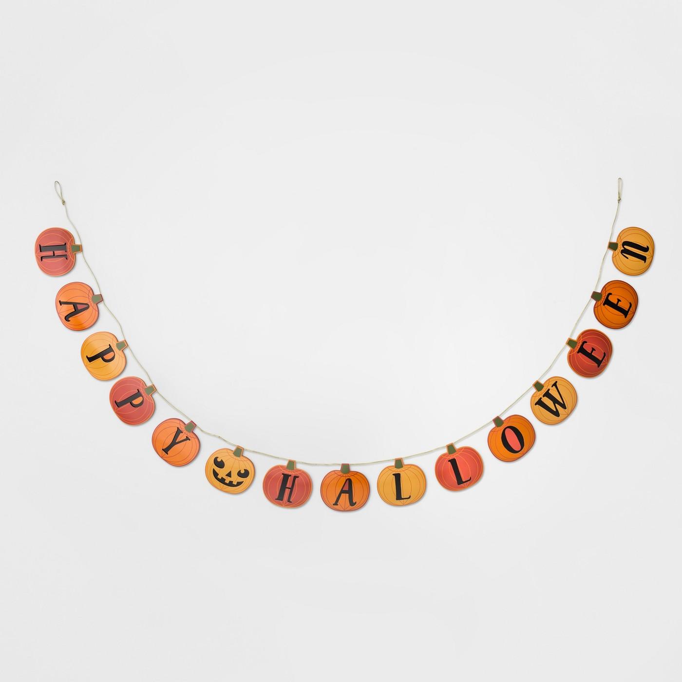 Happy Halloween Garland Orange - Hyde and Eek! Boutique™ - image 1 of 1