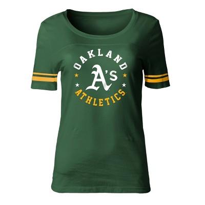 MLB Oakland Athletics Women's Poly Rayon Fashion T-Shirt