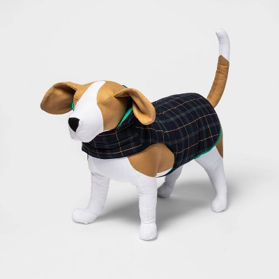 Reversible Plaid Dog and Cat Puffer Vest - Green - Boots & Barkley™