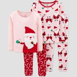 Toddler Girls' 4pc Satna 100% Cotton Pajama Set - Just One You® made by carter's Pink