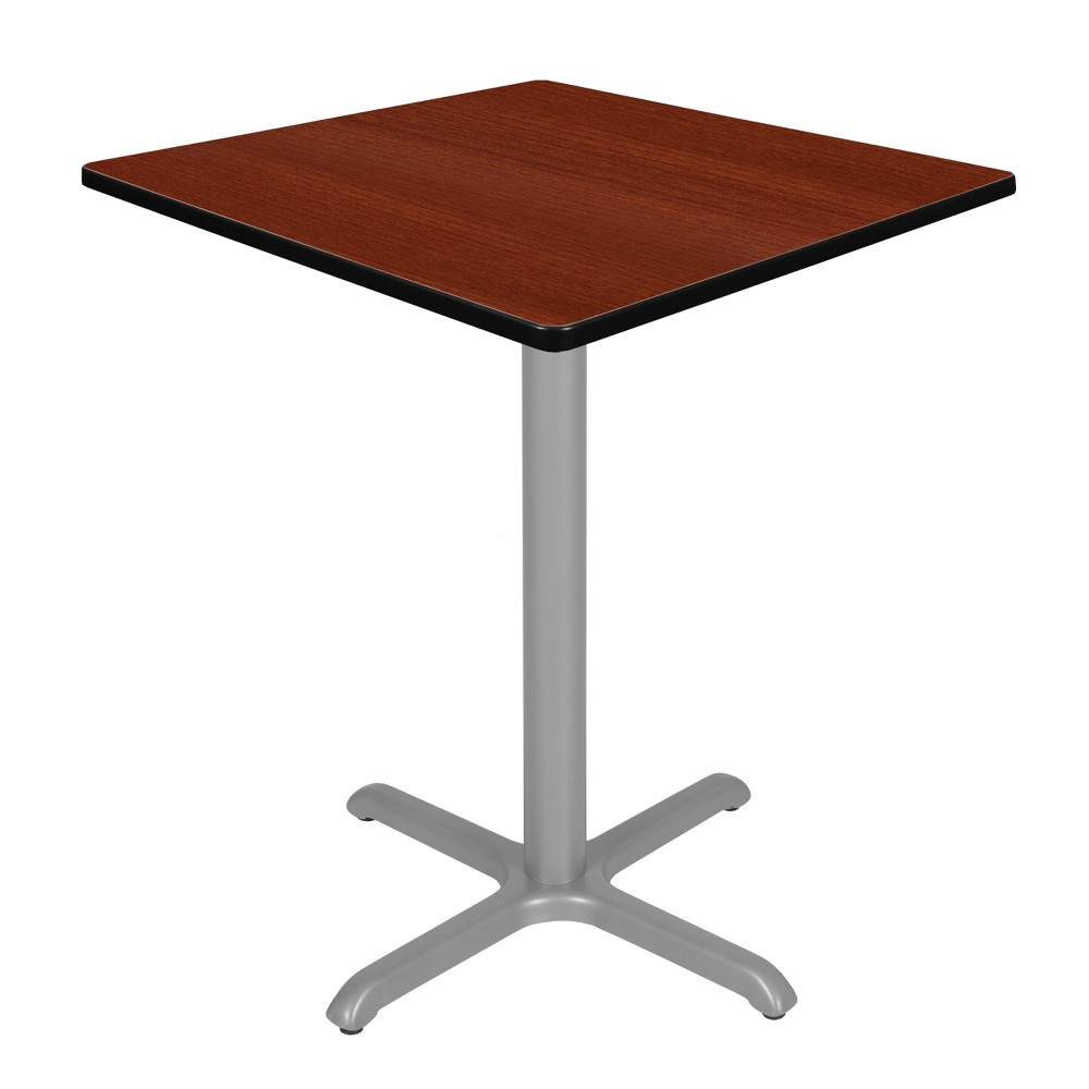 36 Via Cafe High Square X - Base Table Cherry/Gray (Red/Gray) - Regency