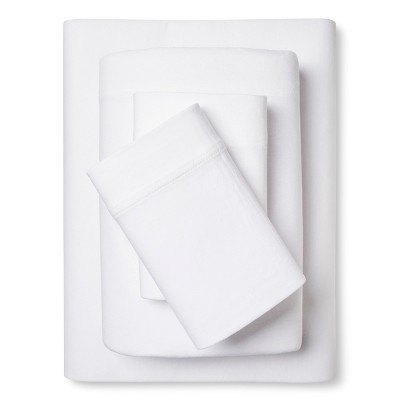 Jersey Sheet Set - True White (King)- Room Essentials™