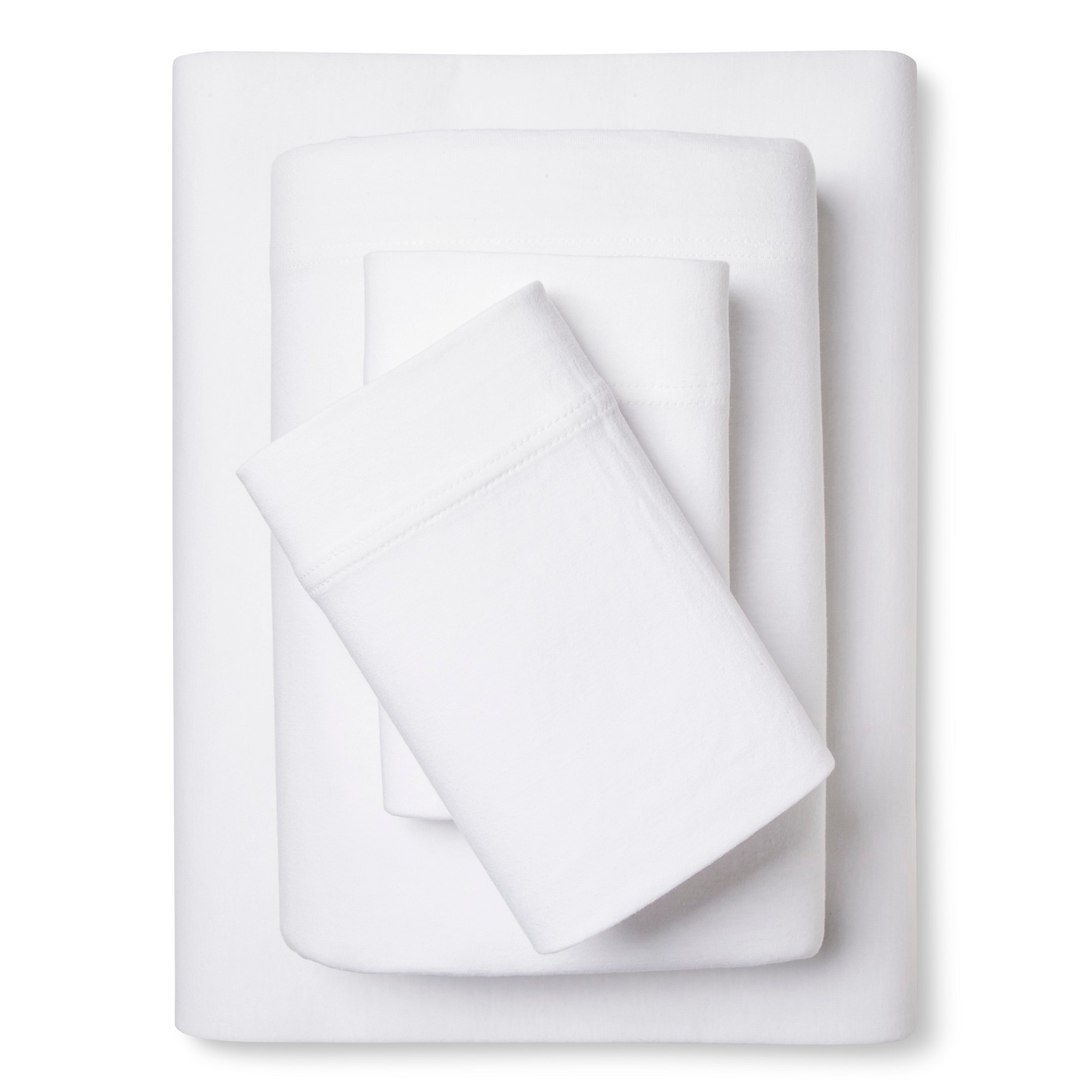 Jersey Sheet Set - (Full) White - Room Essentials