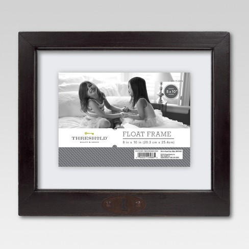 8 X10 Keyhole Frame Black Threshold