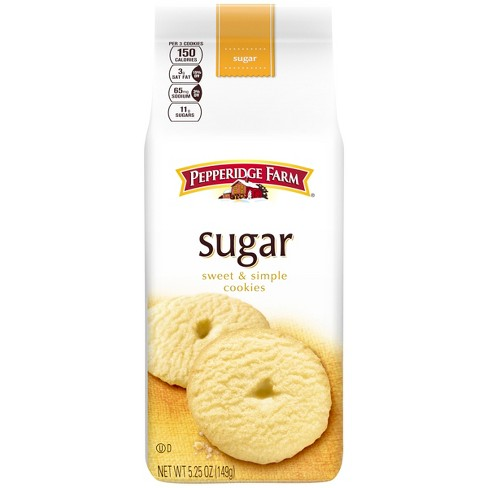 Pepperidge Farm® Sugar Cookies, 5.25oz Bag - image 1 of 6