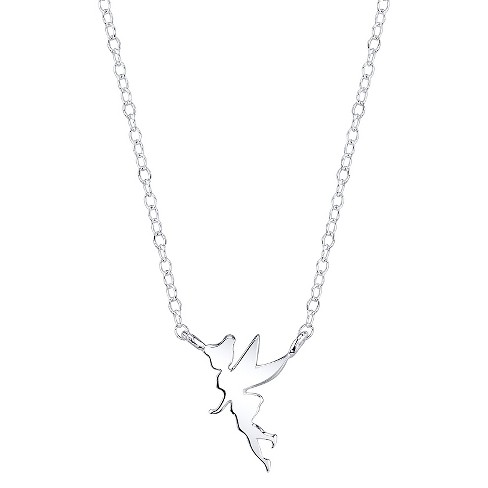 "Disney® Sterling Silver Tinkerbell Station Necklace - Silver (18.44"") - image 1 of 1"