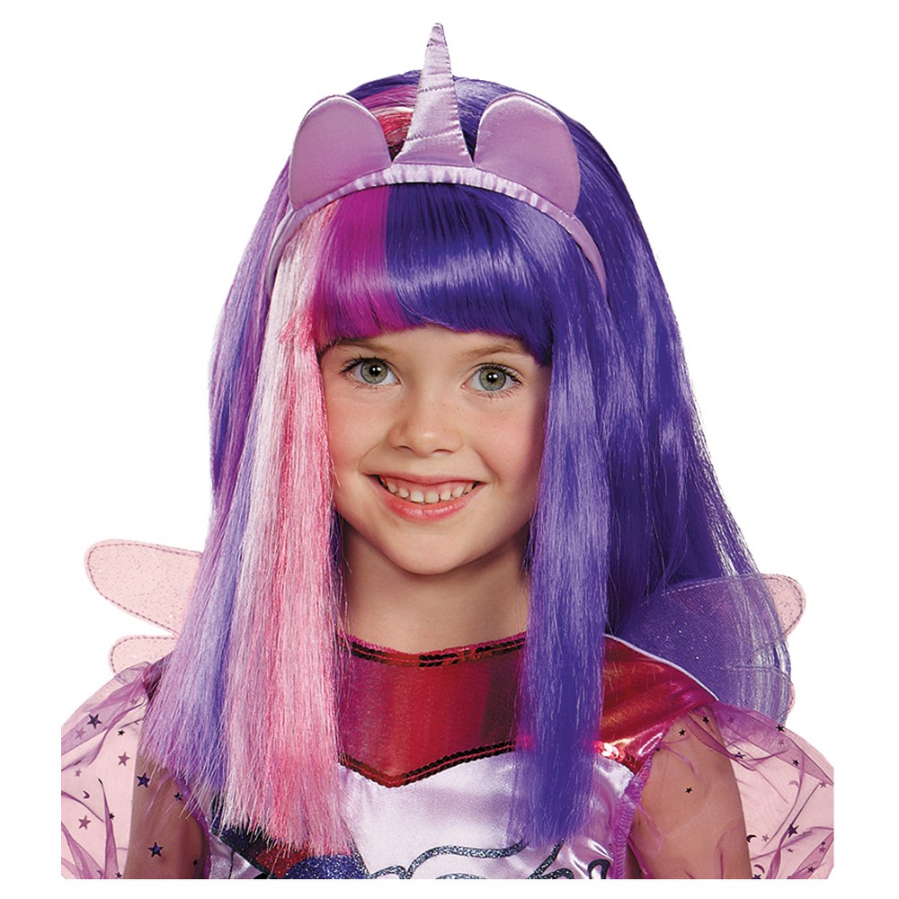 Twilight Sparkle Costume Wig - One Size, Women's, Multi-Colored